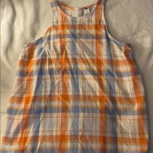 Old Navy Plaid w Button Back Tank Size S